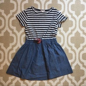 ✴️4/$15 Crewcuts girls striped dress size 8